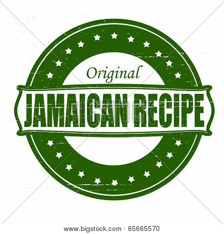 Stamp with text Jamaican recipe inside vector illustration