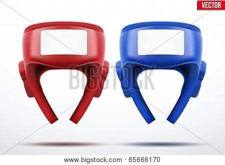 Two Boxing Helmets. Vector Illustration.