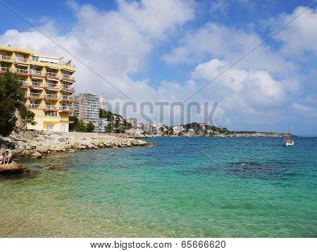 Beach Bay Azure , Cala Gat, Majorca Island