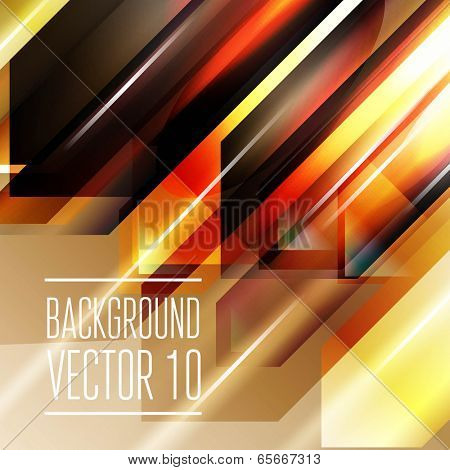 Abstract geometry triangle background with flashes.  Vector Illustration, Graphic Design Editable For Your Design.