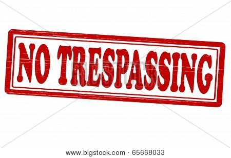 Stamp with text no trespassing inside vector illustration