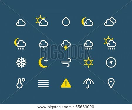 Weather and meteo icons