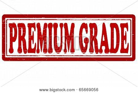 Stamp with text premium grade inside vector illustration