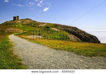 Long Path To Cabot Tower On Signal Hill