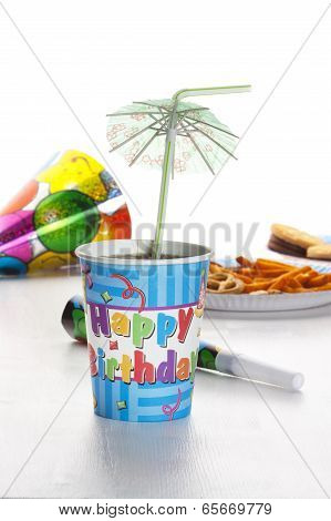 Party Decoration On White Background.