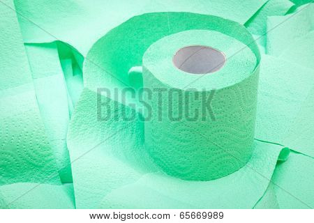 roll of toilet paper close up