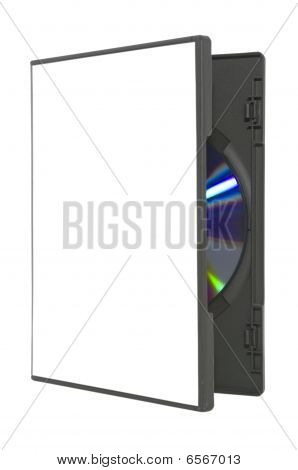 Open Dvd Case On White With Clipping Path