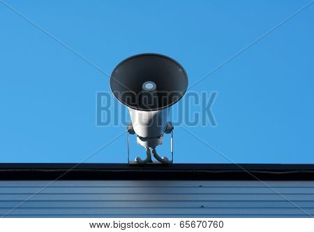 Loudspeaker On Roof The Building