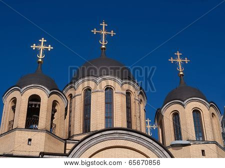 Three Orthodox Church Domes