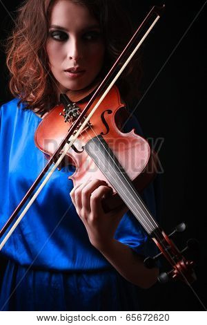 Violin Playing Violinist Musician.