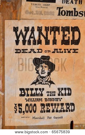 :Wanted William H. Bonney