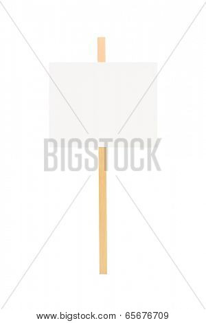 Studio shot of a blank banner isolated on white background