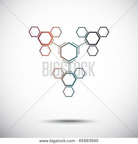 Connection Of Hexagonal Cells Gradient