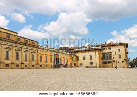Tourists Near The Palazzo Pitti . Florence, Italy