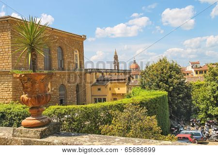 Florence On A Hot Summer Day. Italy