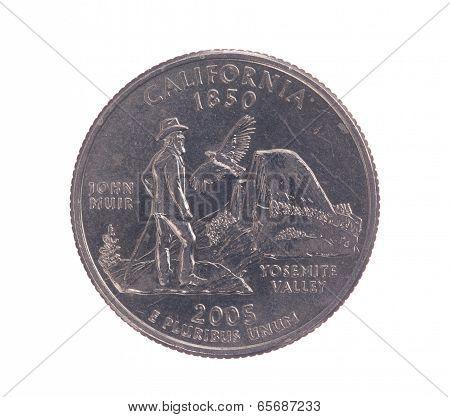 United States California Quarter Dollar Coin