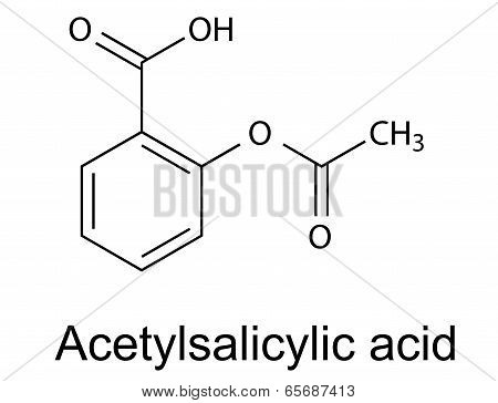 Structural Chemical Formula Of Acetylsalicylic Acid (aspirin)