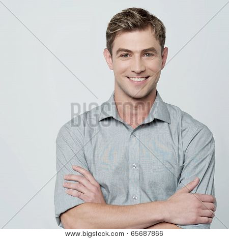 Smiling Young Man Isolated On White