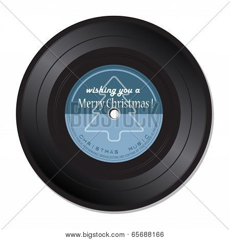 Christmas music vinyl record