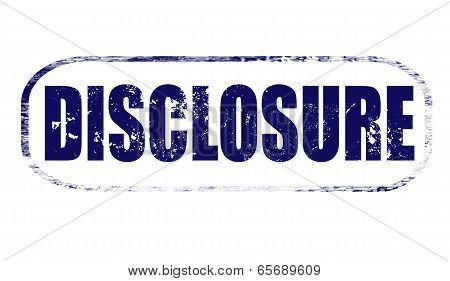 Disclosure Stamp