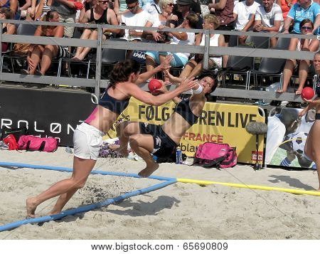 Norway Beach Handball warmup