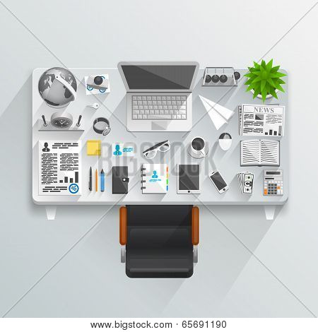 Flat business table