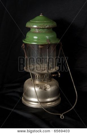 Kerosene Lamp On Black