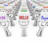 picture of dialect  - Hello word in different languages messages greeting diverse cultures - JPG