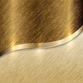 picture of curves  - Vector golden texture background with curve line and scratches - JPG