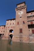 stock photo of ferrara  - old Estense Castle in Ferrara in Italy - JPG