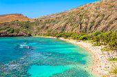 foto of swim meet  - day view of snorkeling tropical paradise Hanauma bay in Oahu - JPG