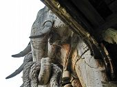 pic of cult  - Wooden temple cult beautiful architectural structure east - JPG