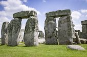 stock photo of stonehenge  - View of Stonehenge a ancient monument in the british isles - JPG