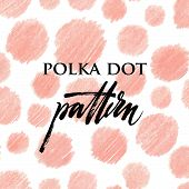 picture of drow  - Polka dot color pencil pink pattern - JPG