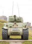 picture of m4  - WWII M4 Sherman Tank at La Citadelle - JPG