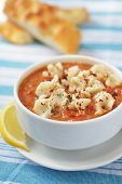 pic of duck egg blue  - Tomato soup with manti and pide bread - JPG