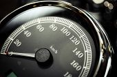 pic of mph  - Detail of a speedometer of a motorcycle.
