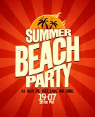 image of club party  - Summer beach party typographical poster - JPG
