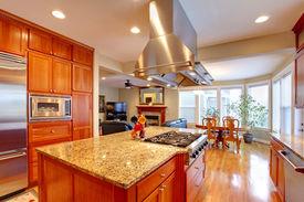 stock photo of combinations  - Luxuriant kitchen interior - JPG