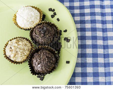 Brazilian sweeties on a green plate