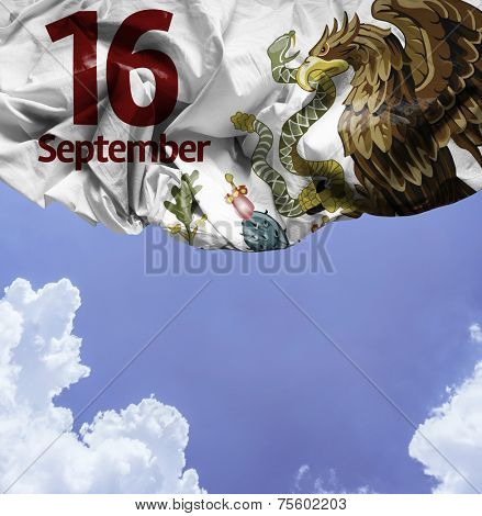 September, 16 Independence of Mexico on a beautiful day