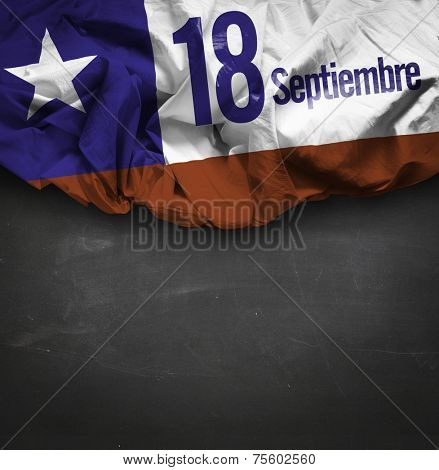 Chile Comemorative flag - September, 18 Independence of Chile - Dia 18 de Septiembre, Independencia de Chile (Spanish)