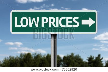 Low Prices creative sign