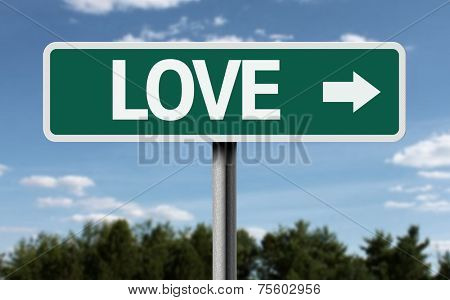 Love creative sign