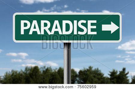 Paradise creative sign