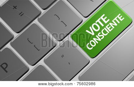 Conscience Vote (Portuguese: Vote Consciente) the keyboard