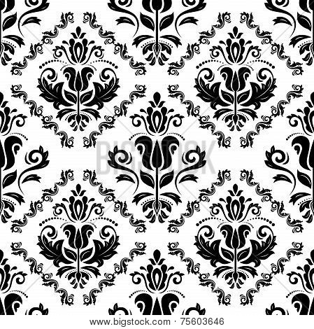 Damask Seamless Vector Pattern. Orient Background