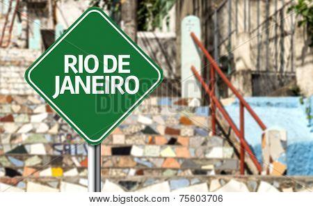 Rio de Janeiro sign, Brazil