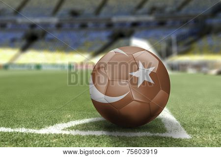 Soccer ball of Turkey on the field