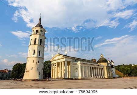 View Of Vilnius Cathedral In Lithuania